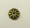 Бусина металлическая - рондель (цвет - античная бронза) 7х2 мм, 10 штук