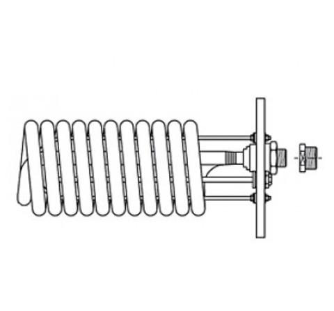 Stiebel Eltron WTW 28/23 - теплообменник для SB 602-1002 AC, фланец 280 мм