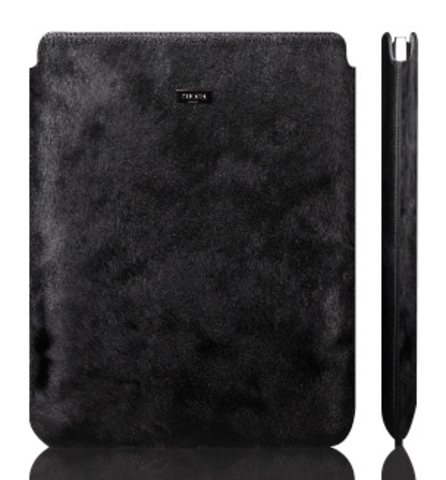 Чехол из натурального меха для iPad 2/new iPad 3/iPad 4 More Safara Classic Mustang Black черный