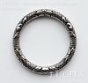 Коннектор - кольцо большое (цвет - античное серебро) 59 мм