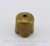 Концевик в виде цветка для шнура 6 мм, 7х6,5 мм (цвет - античная бронза), 10 штук