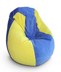 Кресло груша Желто-Голубое
