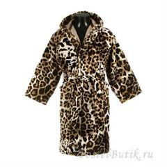 Детский велюровый халат Roberto Cavalli Bravo коричневый
