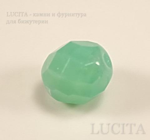 Бусина с огранкой (цвет- ментоловый) 8х7 мм , 10 штук ()