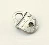 """Концевик для плоского шнура TierraCast """"Геометрия"""" (цвет-античное серебро) 16х12 мм"""