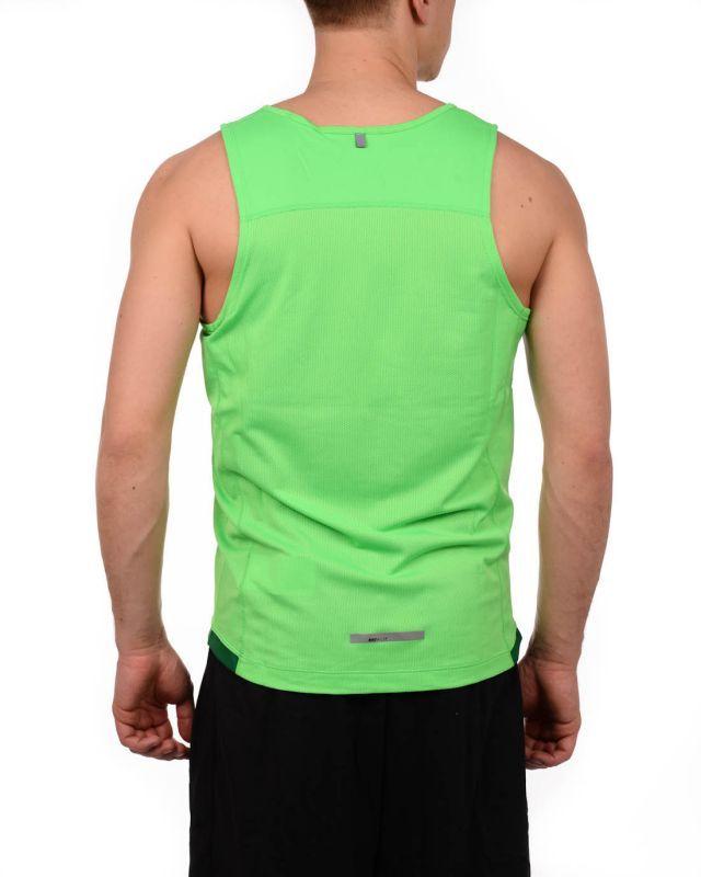 Мужская майка л/а Nike MilerSinglet (519694 370) зеленая