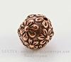 """Бусина - шарик TierraCast """"Цветы"""" 8 мм (цвет-античная медь)"""