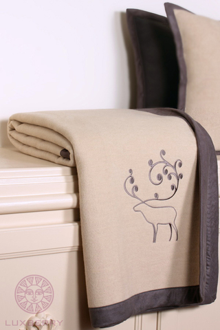 Элитный плед -покрывало Deer от Luxberry