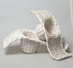 Плетеное кашпо 8429/1 FO white