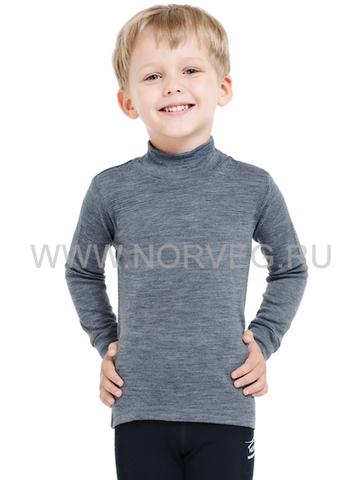 Терморубашка Norveg Soft City Style детская с длинным рукавом серая