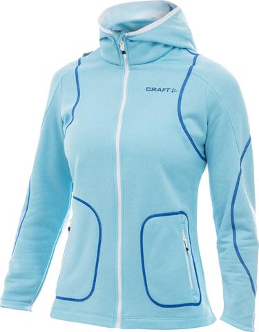 Толстовка Craft Active Hood Zip Blue женская
