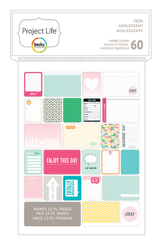 Маленький набор карточек Project Life - TEEN GIRL -PL THEMED CARDS 60PK