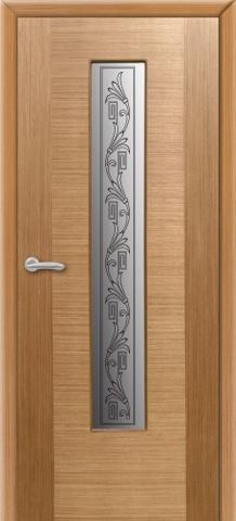 Дверь Владимирская фабрика дверей 8ДО1, цвет светлый дуб, остекленная