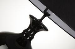 Элитная лампа настольная Monsan черная с черным абажуром от Antonio Rosa