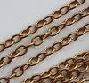 Винтажная цепь (звено 5х4 мм) (цвет - античное золото), 10 cм ()