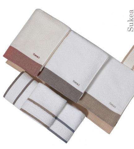 Набор полотенец 2 шт Timas Sukea белый