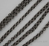 Винтажная цепь двойная (звено 4х0,7 мм) (оксид серебра), 10 cм ()