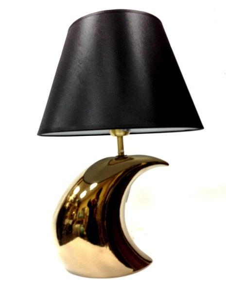 Элитная лампа настольная Луна Gold черная от Sporvil