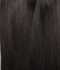 Накладка из натуральных волос Magic Strands -Оттенок 1B-Темно коричневый с черным отливом-длина 38 см