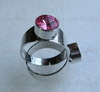 Основа для кольца с сеттингом для страза 8 мм (цвет - платина) ()