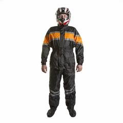 Raincoat / Куртка и брюки / Черно-оранжевый