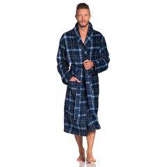 Элитный халат велюрово-махровый Jack синий от Vossen
