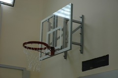 Щит баскетбольный тренировочный, оргстекло 10мм. 1200х900 мм