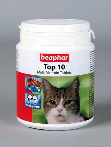 10395 Беафар Витамин Top 10 д/кошек 180таб.*3*54