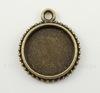 Сеттинг - основа - подвеска для кабошона или камеи 18 мм (цвет - античная бронза)