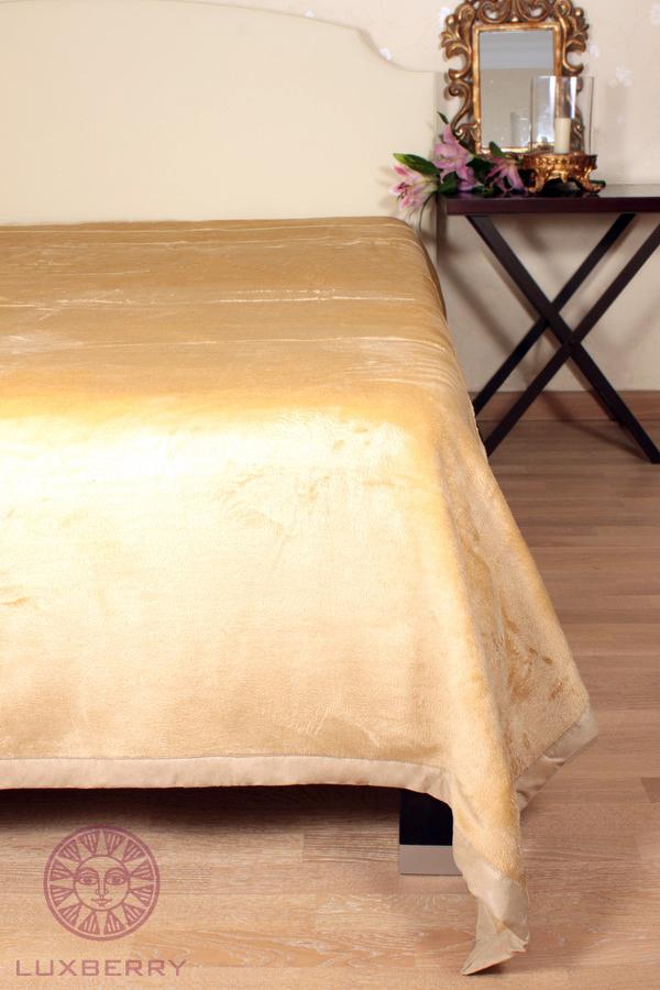 Пледы Плед-покрывало 150х220 Luxberry Silk янтарный pled-pokrivalo-Silk-luxberry-portugaliya.jpeg