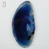 Подвеска Срез Агата, цвет - зеленовато-синий (№3 (71х35 мм)(ЦАРАПИНА/СКОЛ))
