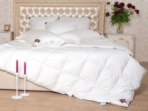 Элитное одеяло всесезонное 150х200 Luxe Down белое от German Grass