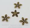 """Шапочка для бусины """"Цветок"""" (цвет - античная бронза) 15х2 мм, 10 штук"""