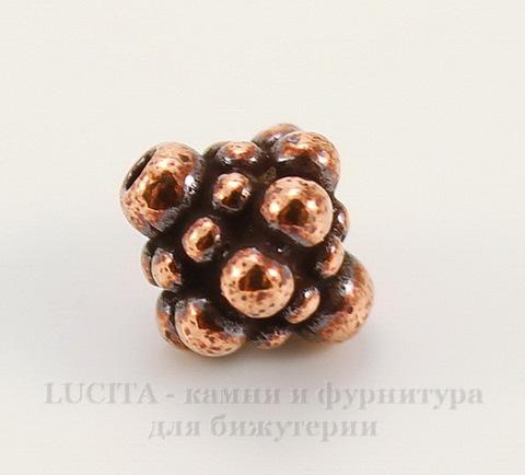 "Бусина TierraCast ""Pamada"" 8,5х8 мм (цвет-античная медь)"
