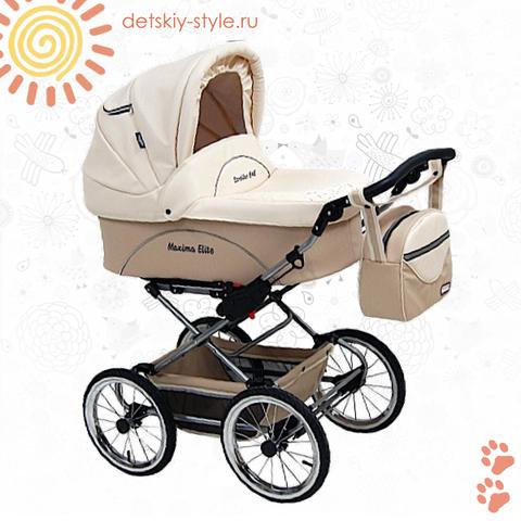 """Коляска Stroller B&E """"Maxima Elite Кожа"""" 2в1"""