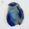 Подвеска Срез Агата, цвет - зеленовато-синий (№7 (45х33 мм)(ЦАРАПИНА))