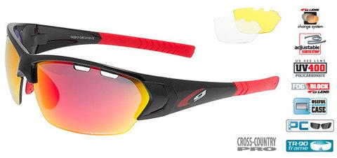 Солнцезащитные очки goggle линия DRONE black/red
