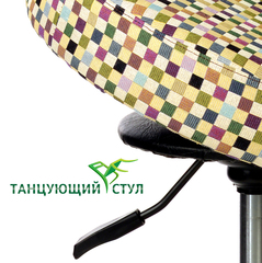 Танцующий офисный стул для руководителя ортопедический  хром для офиса стулья для стола