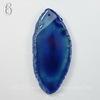 Подвеска Срез Агата, цвет - зеленовато-синий (№6 (63х28 мм)(ЦАРАПИНА))