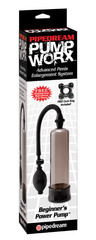 Помпа для увеличения члена Pump Worx Beginners Power черная (5,5 х 19 см)