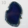 Подвеска Срез Агата, цвет - зеленовато-синий (№10 (60х41 мм))