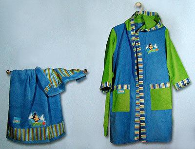 Элитный халат детский Mickey Boys от Caleffi