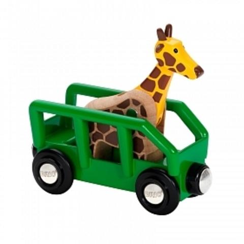 33724 BRIO Сафари Вагон с жирафом