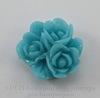 """Кабошон акриловый """"Тройной цветок"""", цвет - пепельно-голубой, 17 мм"""
