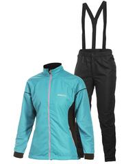 Лыжный костюм Craft AXC Training женский голубой