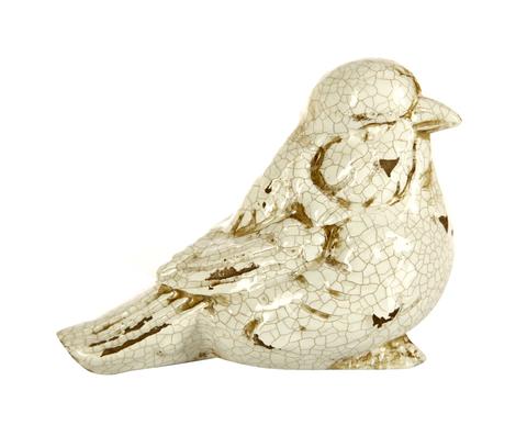 Элитная статуэтка Птичка Craquelure кремовый правый от Sporvil