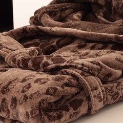Элитный халат велюровый Giaguaro коричневый от Roberto Cavalli