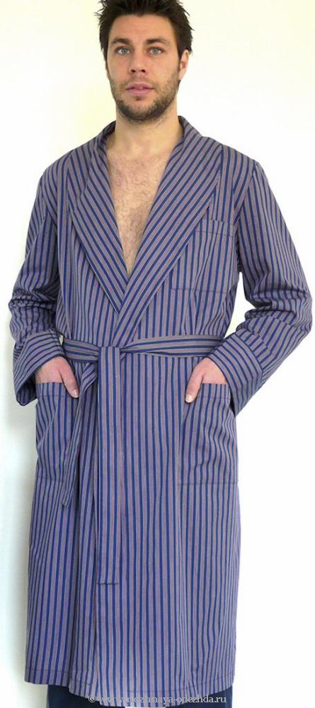 Мужской халат из хлопка B&B (Мужские халаты)