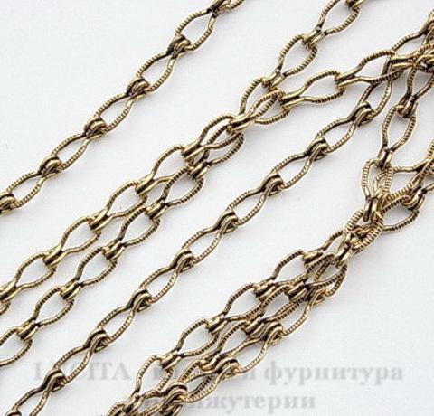 Винтажная цепь (звено 4.5х3 мм) (оксид латуни), 10 cм ()
