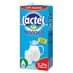 Молоко Lactel с витамином D 3.2%